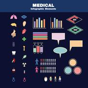 Vector containing many vectors ex. organs , drug equipment and some statistic Stock Illustration