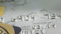 Mastercard credit card. Close up slow panorama. Macro shot. - stock footage