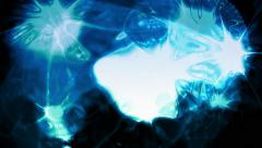 Abstract organic light forms ripple and pulse - Video Background 2049 HD, 4K Stock Footage