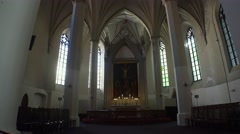Interiors Lutheran church. Old Tallinn. Estonia. 4K. - stock footage