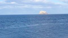 Bass Rock seen from North Berwick, Scotland, United Kingdom. HD Stock Footage