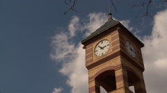 Clock Tower and clouds Stock Footage