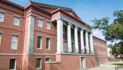 Old United States Mint Building in New Orleans - stock footage