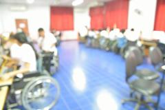 Blur or Defocus Background of Students in Computer Classroom Stock Photos