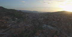 Sarajevo aerial shot, Bosnia and Herzegovina Stock Footage
