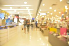 Blur or Defocus of People Shopping in Department store. - stock photo