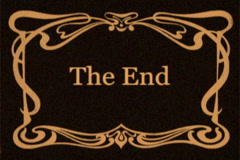 "Vintage Style ""The End"" Title Card  (Sepia Toned) Stock Footage"