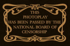 "Vintage ""Censorship Board"" Title Card  (Sepia) Stock Footage"