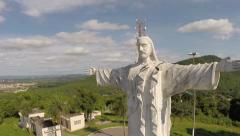 Jesus Christ statue at Corumbá, Brazil Stock Footage