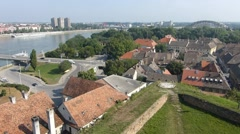 Time lapse Petrovaradin Fortress in Novi Sad Stock Footage