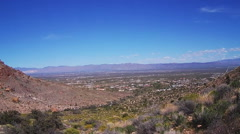 Golden Valley Arizona From Black Mountains- Wide Shot Stock Footage
