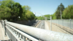 Highway traffic from the overpass Stock Footage