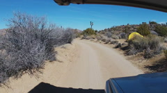 RV Viewpoint Driving In Joshua Tree National Park Camping Area Stock Footage