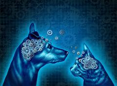Pet Psychology Stock Illustration