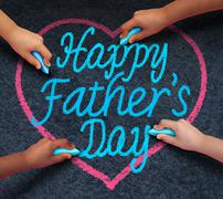 Happy Fathers Day Children - stock illustration