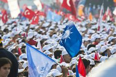 Respect to National Will - Rally in Istanbul Stock Photos