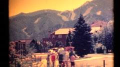 1955 Idaho Resort ,Rocky Mountains Stock Footage