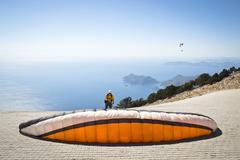 Parachuting - stock photo