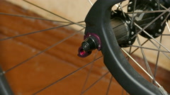 Mechanic Repairing Bicycle, Installing Rear Deraileur, Closeup Shot in 4K Ultra Stock Footage