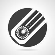 Artificial insemination black round vector icon - stock illustration