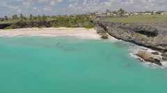 Turquoise Waters of Barbados, aerial view Stock Footage