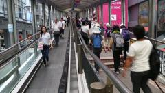 Central-Mid-Levels escalator and walkway system in Hong Kong Stock Footage