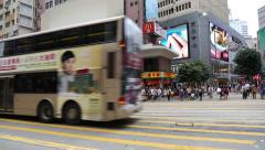 Vehicular traffic on main roads of the metropolis, Hong Kong Stock Footage