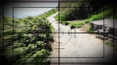 Walking Sniper Scope Stock Footage