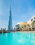 Dubai - JANUARY 10, 2015: Burj Khalifa on January 10 in UAE, Dub Stock Photos
