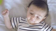 the baby is happy - stock footage