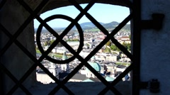 The panorama of Salzburg Stock Footage