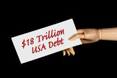 American Debt. Stock Photos