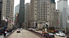 The famous Michigan Avenue in Chicago, Illinois, USA Stock Footage