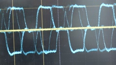 oscilloscope screen showing wave - stock footage