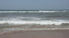 Beautiful seashore on the East coast Stock Footage