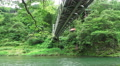 Below Small Bridge Over The Tama River In Forest Footage