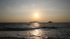 Sunset over the sea - stock footage