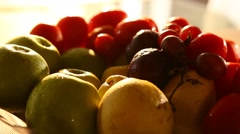 Closeup of Indian Fruits Stock Footage