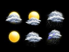Weather forecast icons Stock Footage