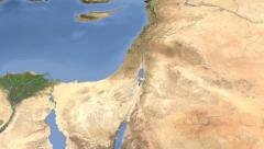 Israel on maps - Do It Yourself as you like. Neighbourhood Stock Footage