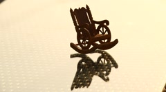 Antic Wood Chair Stock Footage