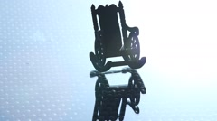 Stock Video Footage of Antic Wood Chair