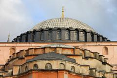 Byzantine Architecture of the Hagia Sophia - stock photo
