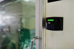 Fingerprint machine - stock photo