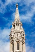 Matthias Church Bell Tower in Budapest Kuvituskuvat