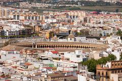City of Seville Cityscape in Spain Stock Photos