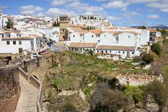 Ronda Old City in Spain - stock photo