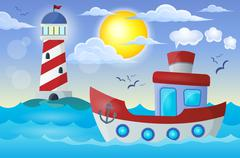 Boat theme image - eps10 vector illustration. Stock Illustration