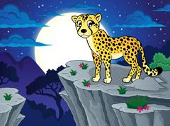 Cheetah theme image - eps10 vector illustration. - stock illustration