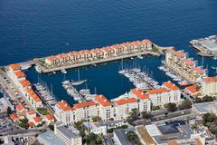 Marina in Gibraltar City Stock Photos